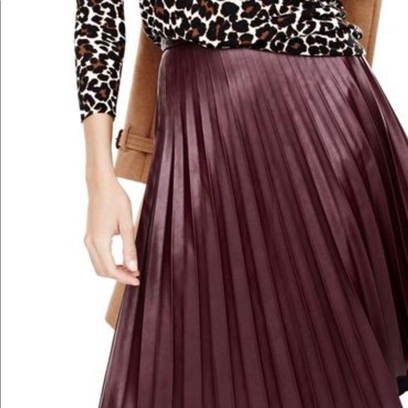 bc9d128e57 BCBGMaxAzria Skirts | Elsa Faux Leather Pleated | Poshmark